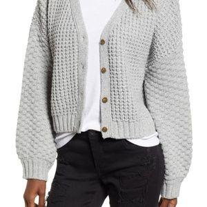 BP. Crop Knit Cardigan